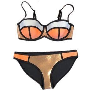 TRIANGL poppy melon rose gold bikini • S++/M